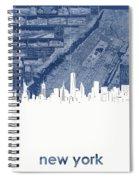 New York Skyline Map 2 Spiral Notebook
