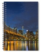 New York Skyline - Queensboro Bridge - 2 Spiral Notebook