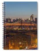 New York Skyline - Queensboro Bridge Spiral Notebook