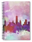 New York Skyline Watercolor 3 Spiral Notebook