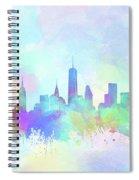 New York Skyline Watercolor 7 Spiral Notebook