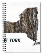 New York State Map Spiral Notebook