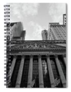 New York Stock Exchange Black And White Spiral Notebook