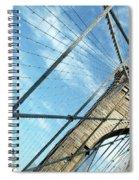 New York Usa  Brooklyn Bridge Towards Manhattan. Spiral Notebook