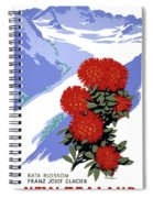 New Zealand Rata Blossom Vintage Travel Poster Spiral Notebook