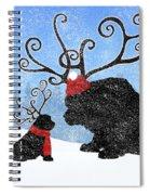 Newfie Reindeer Spiral Notebook