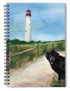 Newfy At Cape May Light  Spiral Notebook