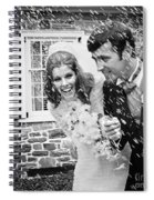 Newlyweds Showered With Rice, C.1960-70s Spiral Notebook