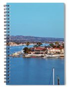 Newport Beach Harbor At Dusk Spiral Notebook