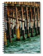 Newport Beach Pier Close Up Spiral Notebook