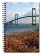 Newport Bridge Newport Rhode Island Spiral Notebook