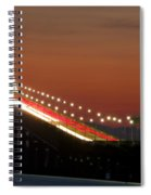 Newport Bridge Twilight Spiral Notebook