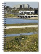 Newport Estuary And Nearby Businesses Spiral Notebook
