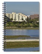 Newport Estuary Looking Across At Major Hotel And Businesses Spiral Notebook