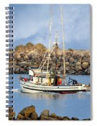 Newport Oregon - Coastal Fishing Spiral Notebook