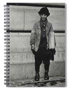 Newsboy, 1909 Spiral Notebook