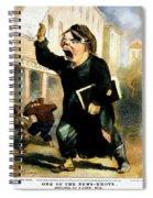 Newsboy Shouting, 1847 Spiral Notebook