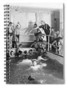 Newsboys Swimming 1900s Spiral Notebook