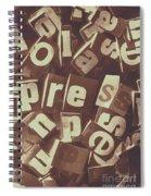 Newsprint Journalism Spiral Notebook