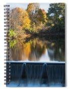 Newton Upper Falls Autumn Waterfall Reflection Spiral Notebook