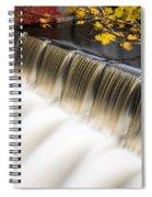 Newton Upper Falls Autumn Waterfall Spiral Notebook