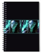 Neytiri - Gently Cross Your Eyes And Focus On The Middle Image Spiral Notebook