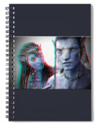 Neytiri And Jake Sully - Use Red-cyan 3d Glasses Spiral Notebook