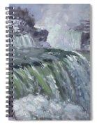 Niagara Falls In Winter  Spiral Notebook