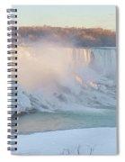 Niagara Falls In Wintertime Spiral Notebook