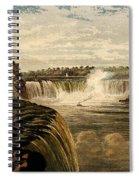 Niagara Falls With Rainbow, 1860 Spiral Notebook