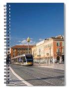 Nice Tramway At Place Massena Spiral Notebook