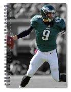 Nick Foles Eagles Super Bowl 2 Spiral Notebook