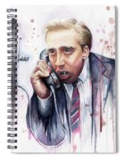 Nicolas Cage A Vampire's Kiss Watercolor Art Spiral Notebook