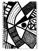 Black And White 20/night And Day 1 Spiral Notebook
