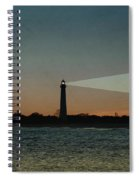 Night At Cape May Lighthouse Spiral Notebook
