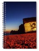 Night At Etretat Beach Spiral Notebook