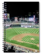 Night Baseball In Minneapolis Spiral Notebook