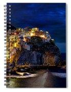 Night Comes To Manarola Spiral Notebook