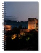 Night Comes To The Alhambra Spiral Notebook