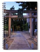 Night Falls On Esaka Shrine Spiral Notebook