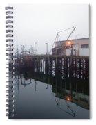 Night Fog Along The Dock Spiral Notebook