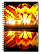 Night Glow At The Pond Spiral Notebook