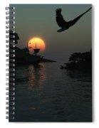 Night Harbor  Spiral Notebook
