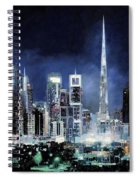 night in Dubai City Spiral Notebook