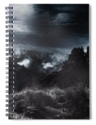 Night Landscape. Australian Mountain View Spiral Notebook