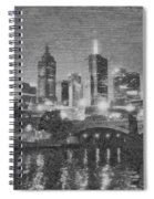 Night Landscape In Melbourne Spiral Notebook