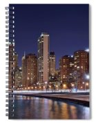 Night Lights On The Lakefront Spiral Notebook