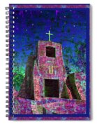 Night Magic San Miguel Mission Spiral Notebook