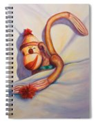 Night Night Sock Monkey Spiral Notebook