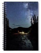 Night On The Blue River Spiral Notebook